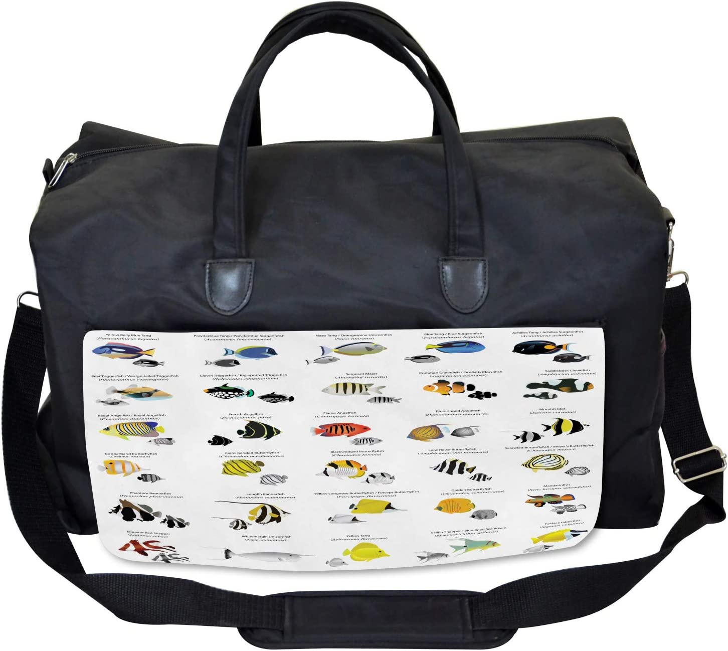 Underwater Aquatic Species Ambesonne Fish Gym Bag Large Weekender Carry-on