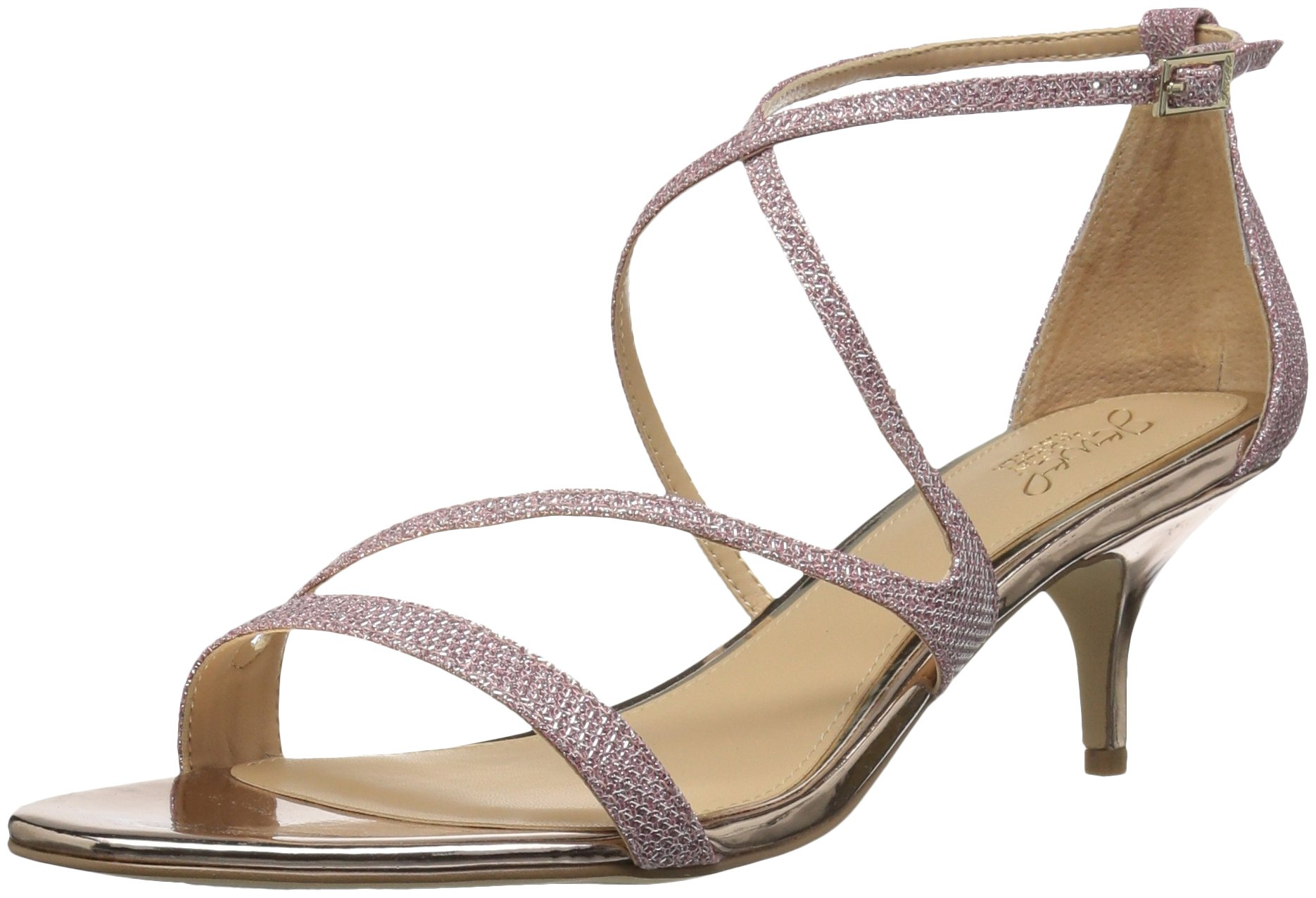 Badgley Mischka Jewel Women's Gal Heeled Sandal, Rose Gold, 6 Medium US by Badgley Mischka