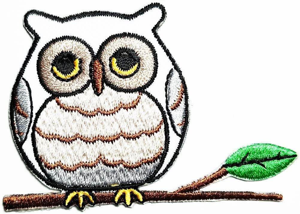 Patch Iron-On or Sew-On Owl Embroidered Applique Patches For Jackets Jeans