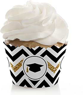 product image for Big Dot of Happiness Gold Tassel Worth The Hassle - Graduation Party Decorations - Party Cupcake Wrappers - Set of 12