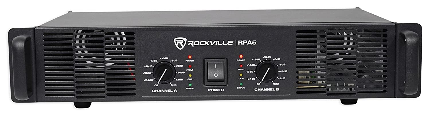 5. Rockville RPA5 1000 Watt Peak 2 Channel Power Amplifier
