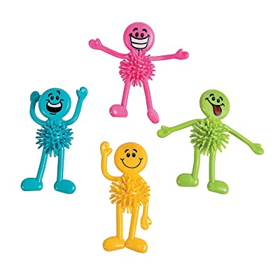 Fun Express - Neon Smile Face Bendable Porcupine - Toys - Character Toys - Bendables - 24 Pieces: Toys & Games