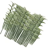 Approx. 100Pcs 4 Scales Plastic Model Bamboo Trees Green