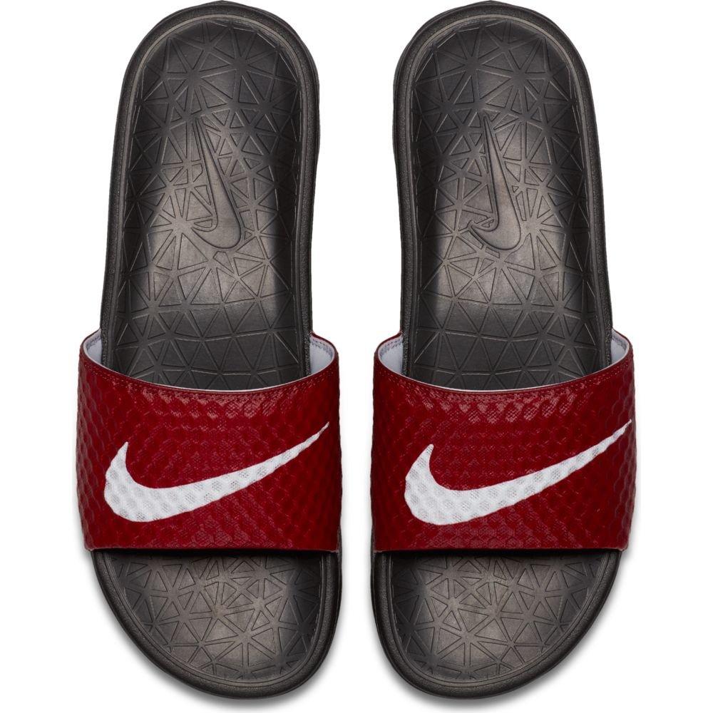 NIKE Men's Benassi Solarsoft Slide Athletic Sandal, Team Red/White/Black, 15 D(M) US by NIKE