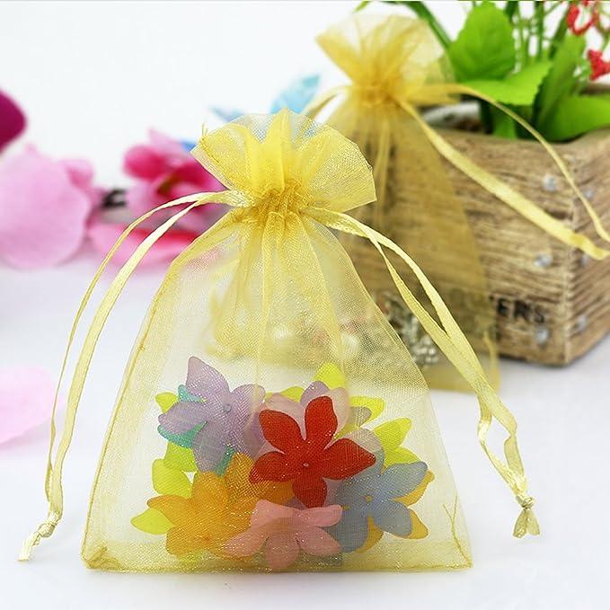 Amazon.com: lalago 100Pcs Mini Bolsas de Joyas de ...