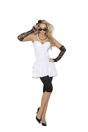 Zabeanco - Disfraz de Estrella de Rock Sexy para Mujer - Blanco ...