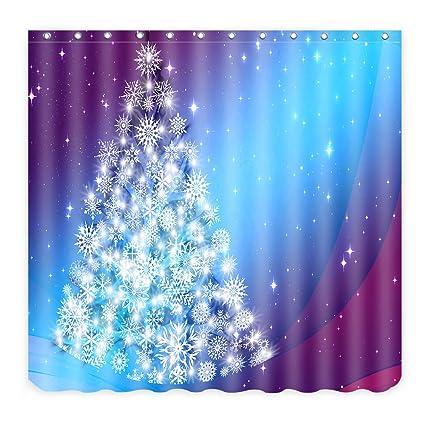 alfalfa merry christmas home decor polyester fabric bathroom shower curtain 60 w x 72 - Amazon Christmas Home Decor