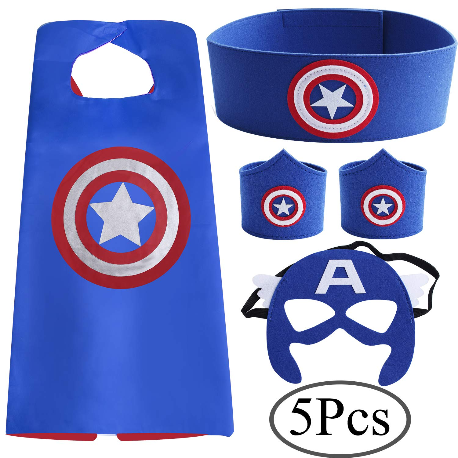Mask and Cape Costumes for Superhero Dress up by Stanide