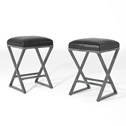 Pleasing Homes Inside Out Idf 3369Bc Weathered Gray Bailey Bar Stool Set Of 2 Ncnpc Chair Design For Home Ncnpcorg