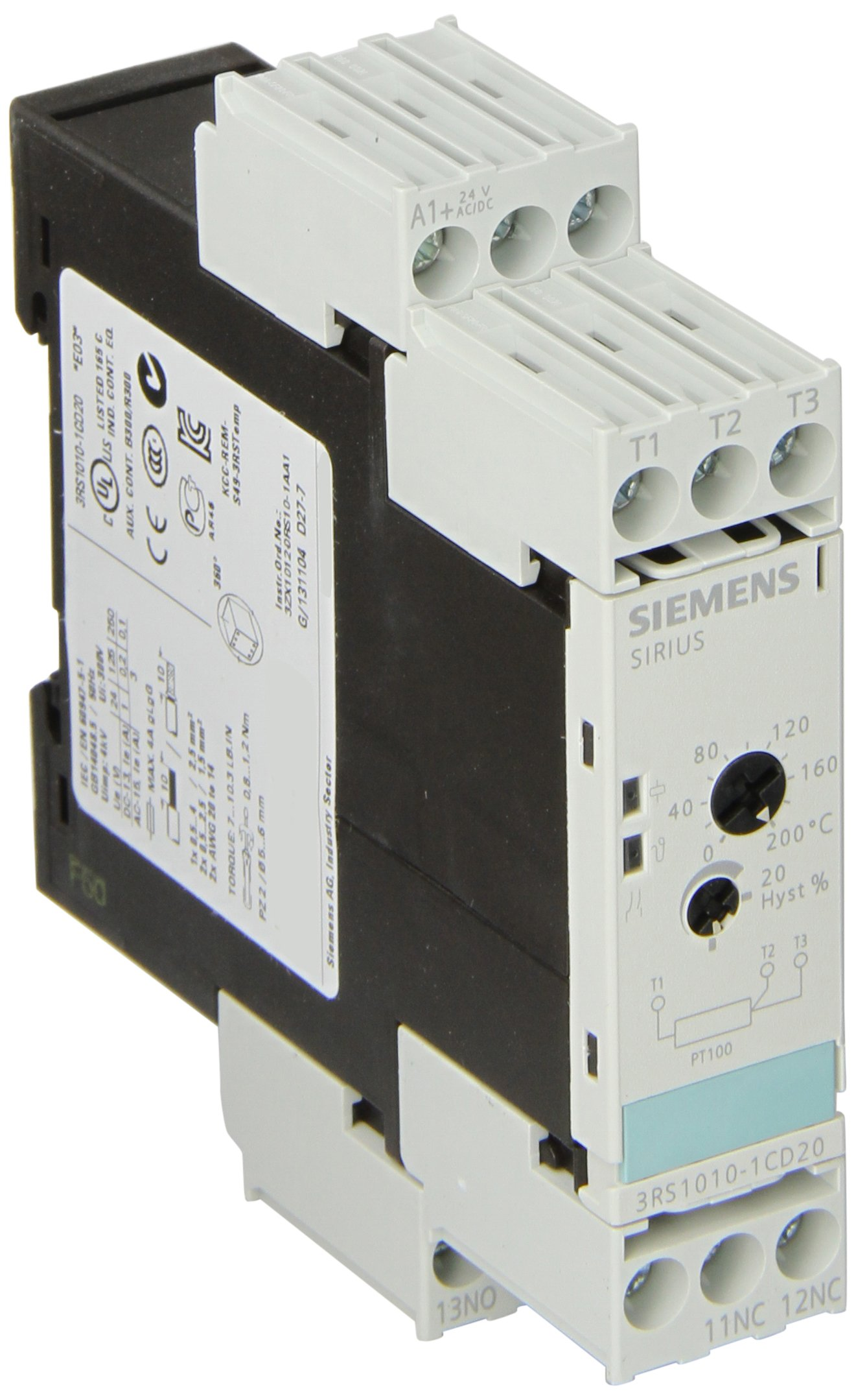Siemens OFD-DFSB-120 Basic Plug Timer Relay, Square Base, DPDT Contacts, 12A Contact Rating, 120VAC/DC Coil Voltage, 0.1S-10h Time Range, D and E Function