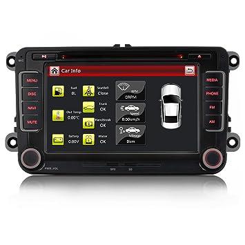 Radio de coche iFreGo 7 pulgadas, para Volkswagen, Skoda, Seat, con 3G