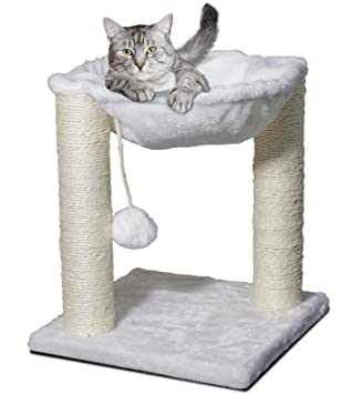 cat tree hammock scratch post house   bed furniture for play with toy amazon     cat tree hammock scratch post house   bed furniture      rh   amazon