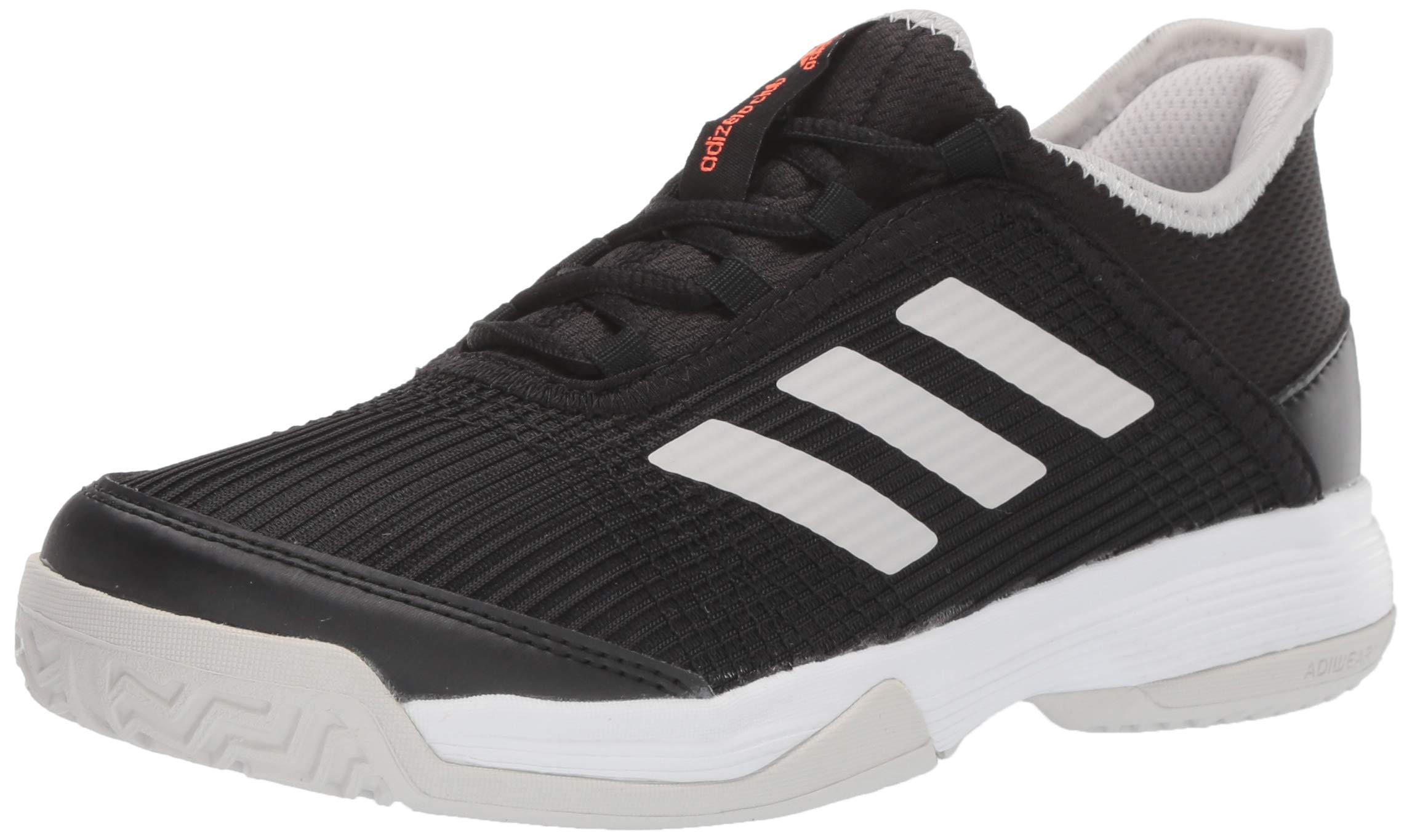 adidas Unisex Adizero Club Tennis Shoe, Black/White/Grey, 6.5 M US Big Kid