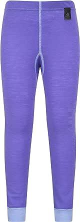 Mountain Warehouse Pantalón térmico de Lana Merino para niños - Transpirable, Ligero, Antibacteriano, fácil de Transportar, niños y niñas, Invierno
