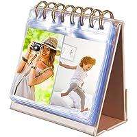 "Photo Album for HP Sprocket Plus Printer, 64-Pocket Photo Album fit for HP Sprocket Plus 2.3 x 3.4"" Photo paper, Portable 3-inch Desk Calendar Picture Holder"