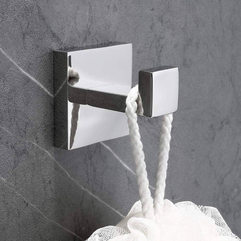 per bagno accappatoio Homovater asciugamano singolo cromato appendiabiti da parete con finitura cromata Gancio porta asciugamani in acciaio inox 304