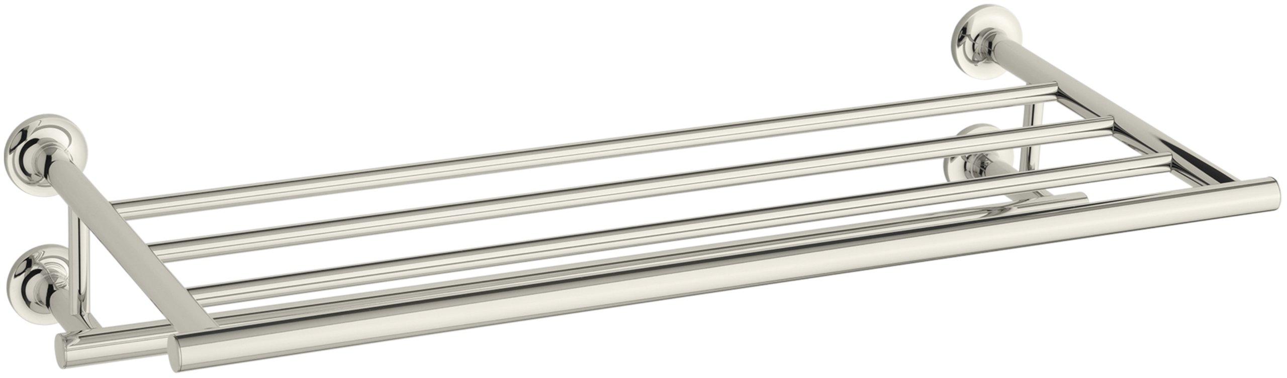 Kohler K-14381-SN Purist Towel Shelf, Vibrant Polished Nickel