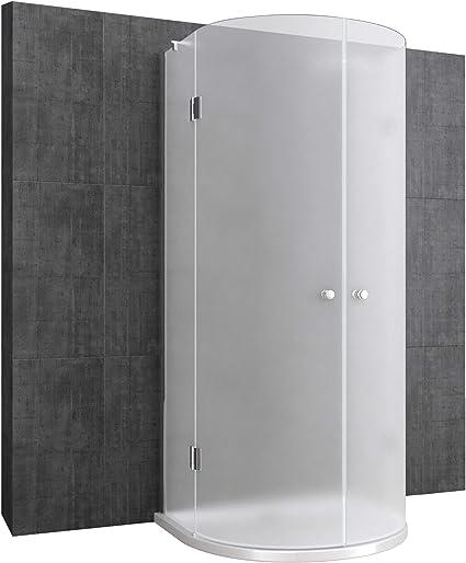 Mampara de ducha cabina ravenna3 semicírculo ducha opcional con plato de ducha y desagüe, blanco: Amazon.es: Bricolaje y herramientas