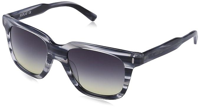 Replay Damen RY524S Rechteckig Sonnenbrille, Gr. One Size, Blue