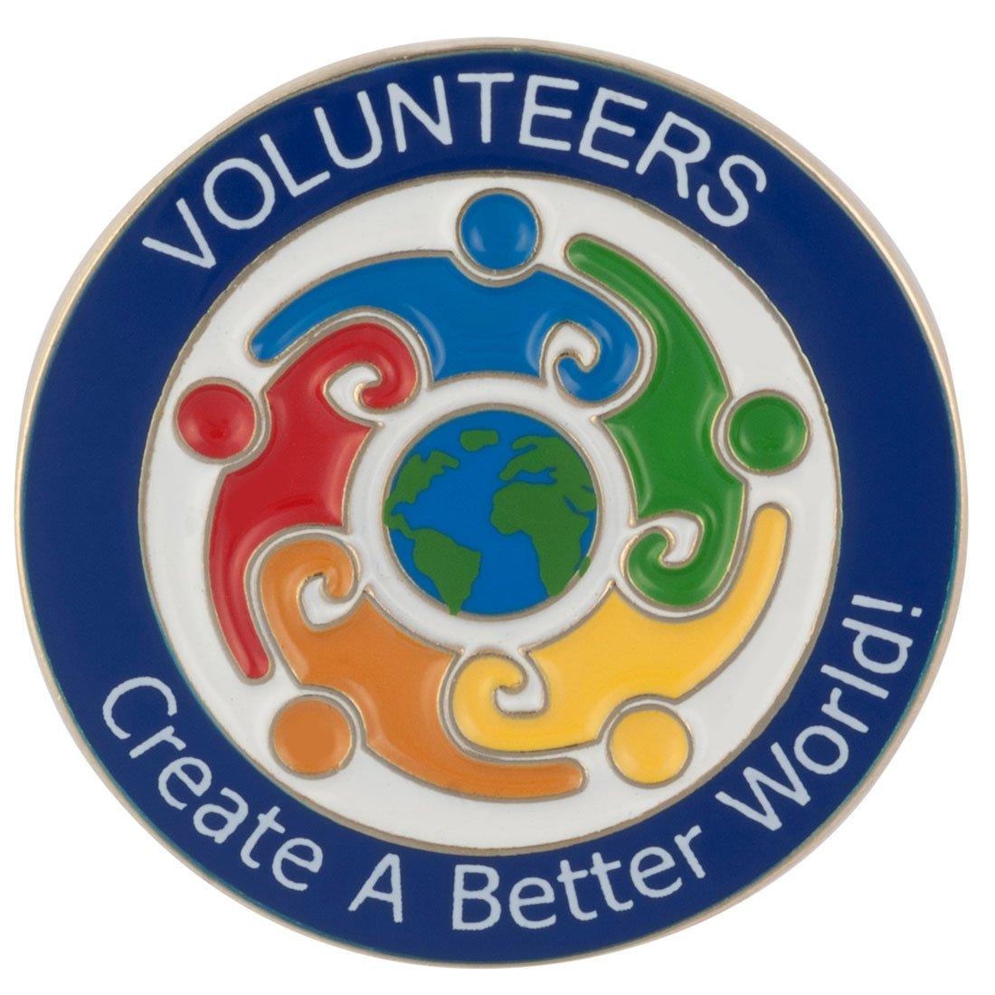 ''Volunteers Create a Better World'' Lapel Pin (50)