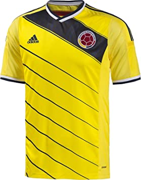 71a44dc9cb4 Adidas Colombia 2014 Home Soccer Jersey World Cup 2014 (L): Amazon ...
