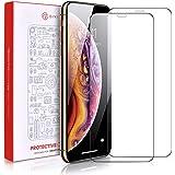 iPhoneX 強化ガラスフィルム 【2枚セット】iPhone 10液晶保護フィルム 0.15mm超薄型 耐スクラッチ 指紋防止 アイフォンx フィルム