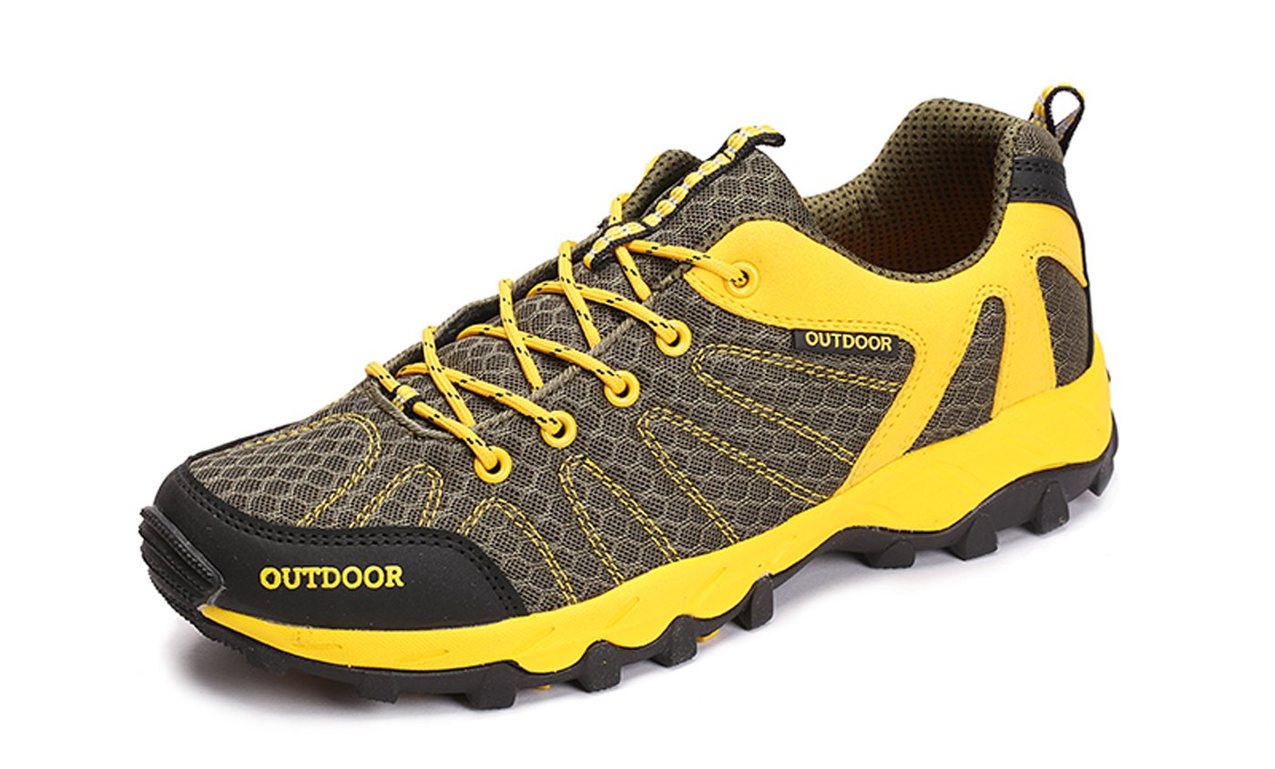 TZTONE Unisex Breathable Quick-Dry Hiking Shoes Mountaineering Shoes for Men Women HS6110136 B075GW1DQ2 9.5 B(M) US Women = 8 D(M) US Men|Yellow