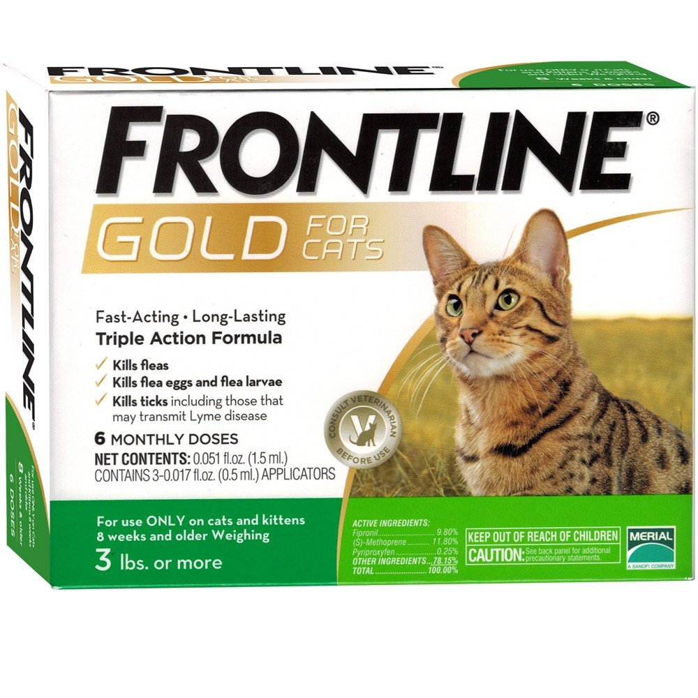 Frontline Gold 6 dose Cat 3+lbs