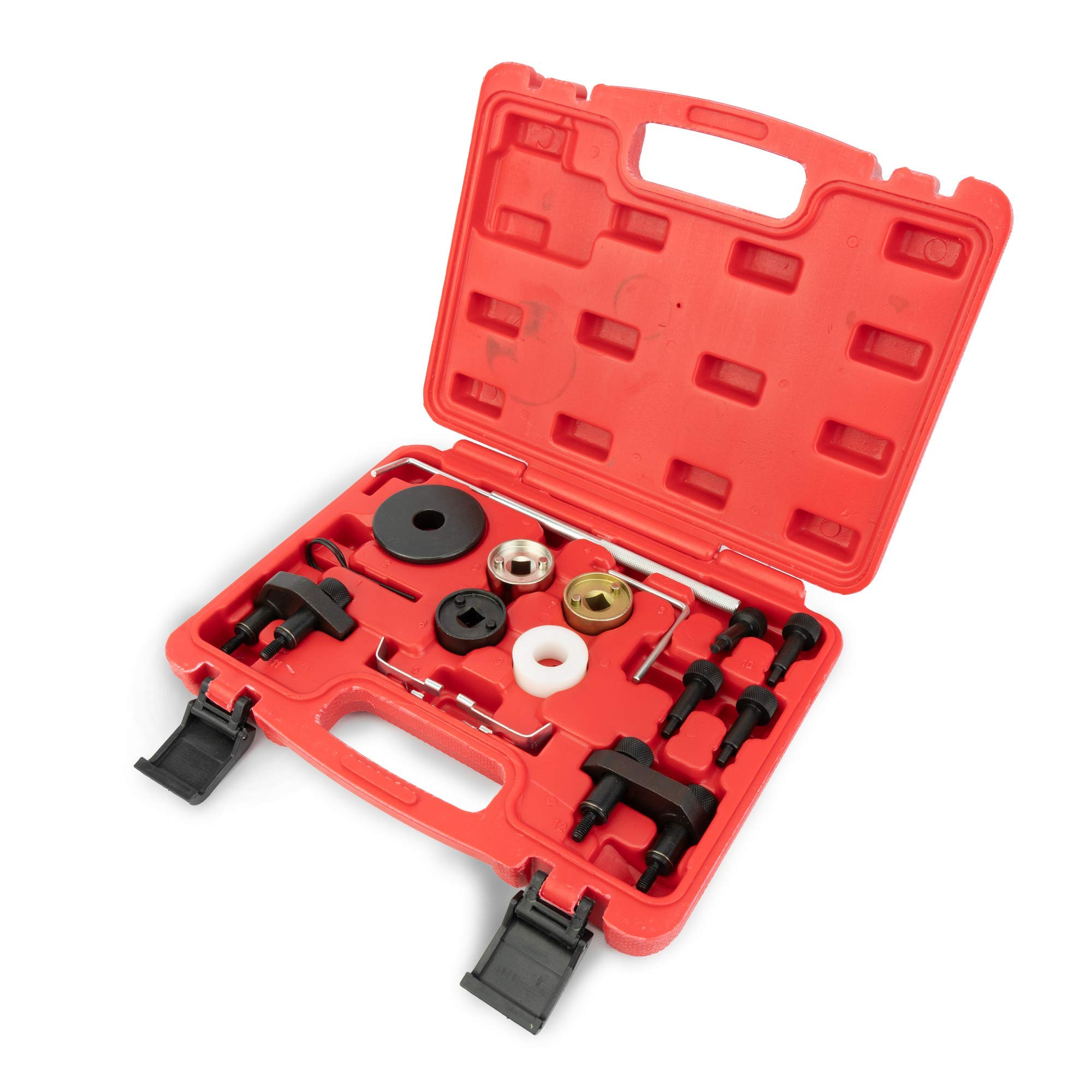 Replacement VAG Volkswagen Audi Timing Tool Kit - 1.8L, 2.0L R4 16V Turbo TSI, TSFI EA888 Engine - Replaces# T10352, T10368, T40098, T40011 & More - Audi Camshaft & Crankshaft Timing Position by Delray Auto Parts (Image #1)