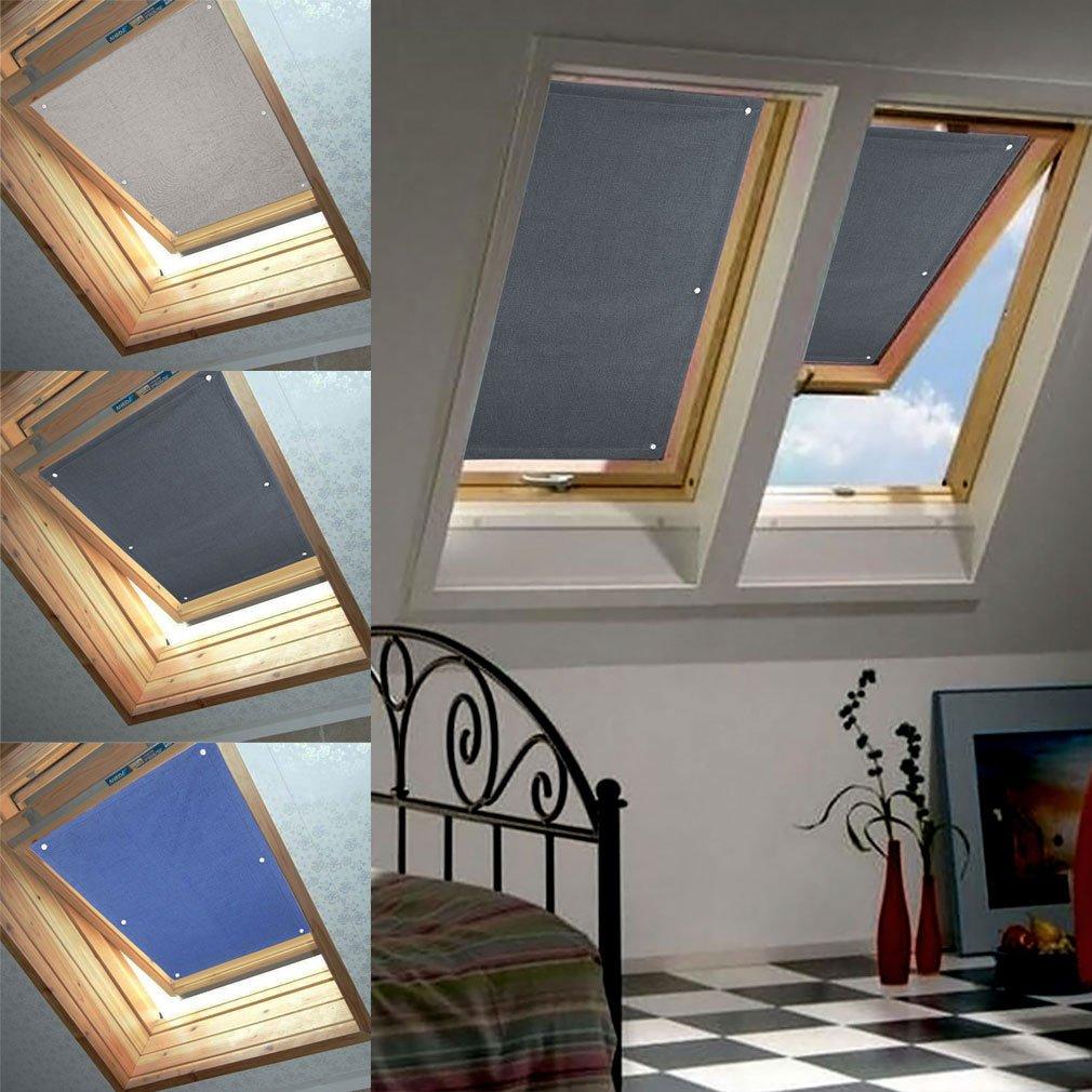 38 * 75cm Tenda a rullo adatta per finestre per tetti Velux Protegge dal calore Wohl-Hausshop