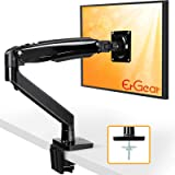 "ErGear 22-35"" Premium Single Monitor Stand Mount w/USB, Ultrawide Computer Screen Desk Mount w/Full Motion Gas Spring Arm, He"