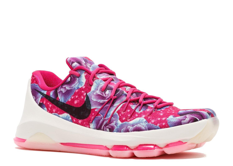 quality design 5dfc6 c412a Amazon.com   Nike KD 8 Premium GS (Aunt Pearl) Vivid Pink Black-Hyper Turq  (Size 6Y)   Basketball