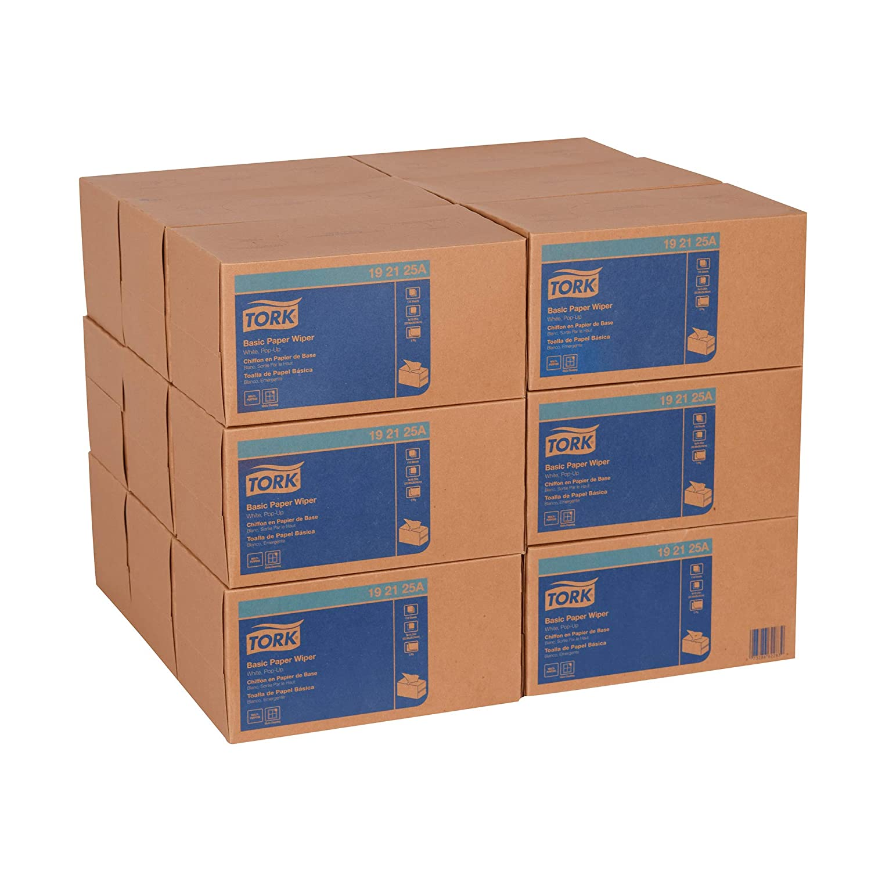 Tork 192125A Basic Paper Pop-Up Box, 2-Ply, 9