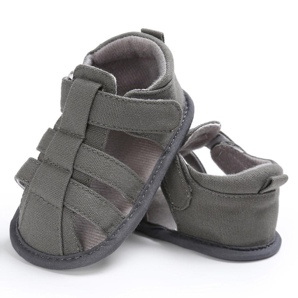 IMJONO Chaussures Garçon, Été Décontractée Chaussettes à Lacets Douces pour Filles garnies Sandales de Plage IMJONO Bébé-22