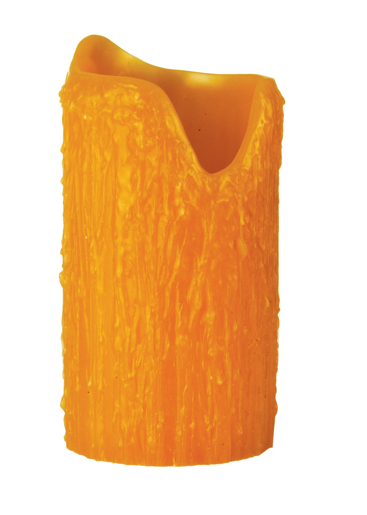 4 Inch W X 8 Inch H Poly Resin Honey Amber Uneven Top Candle Cover , Shade Only , Meyda