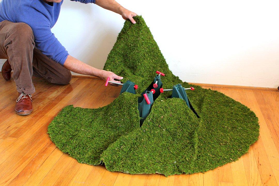 1 unit Fresh Green Moss Christmas Tree Skirt SuperMoss 36 22460