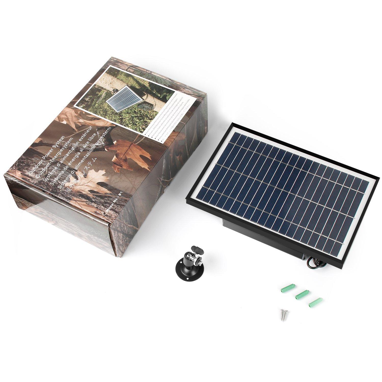 TRAIL WATCHER Solar Panel Charger 12.1V 5.5W DC Puerto Exterior Impermeable para Cámara de Seguridad Wild Camera Speaker DVD DC Equipment