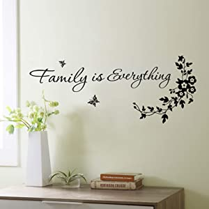 Family is Everything Wall Stickers Decals Quotes Vinyl Wall Words Sayings Lettering Living Room Wall Art Decor Gifts