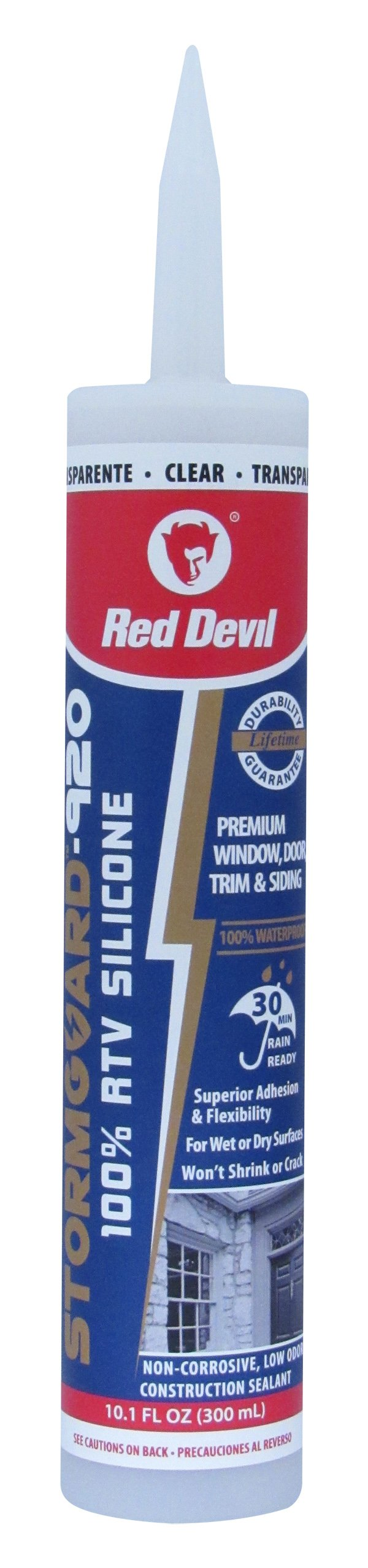 Red Devil 78712 0787 StormGuard-920 100%, Clear, Case of 12 RTV Silicone Sealant, Pack, Piece by Red Devil
