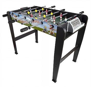 18aeb2d73d9311 Leomark Table de Babyfoot Super Gool Table En Bois Jeu de Football, Table  de Baby
