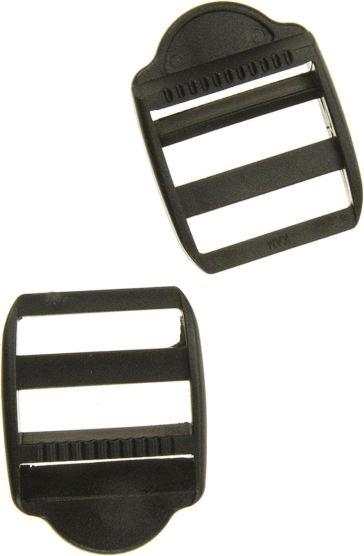 Black Prym 25 mm Adjusting Plastic Buckles