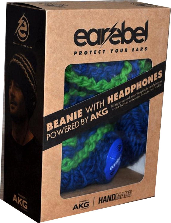 Earebel Schurwolle Beanie Striped one size blau//gr/ün
