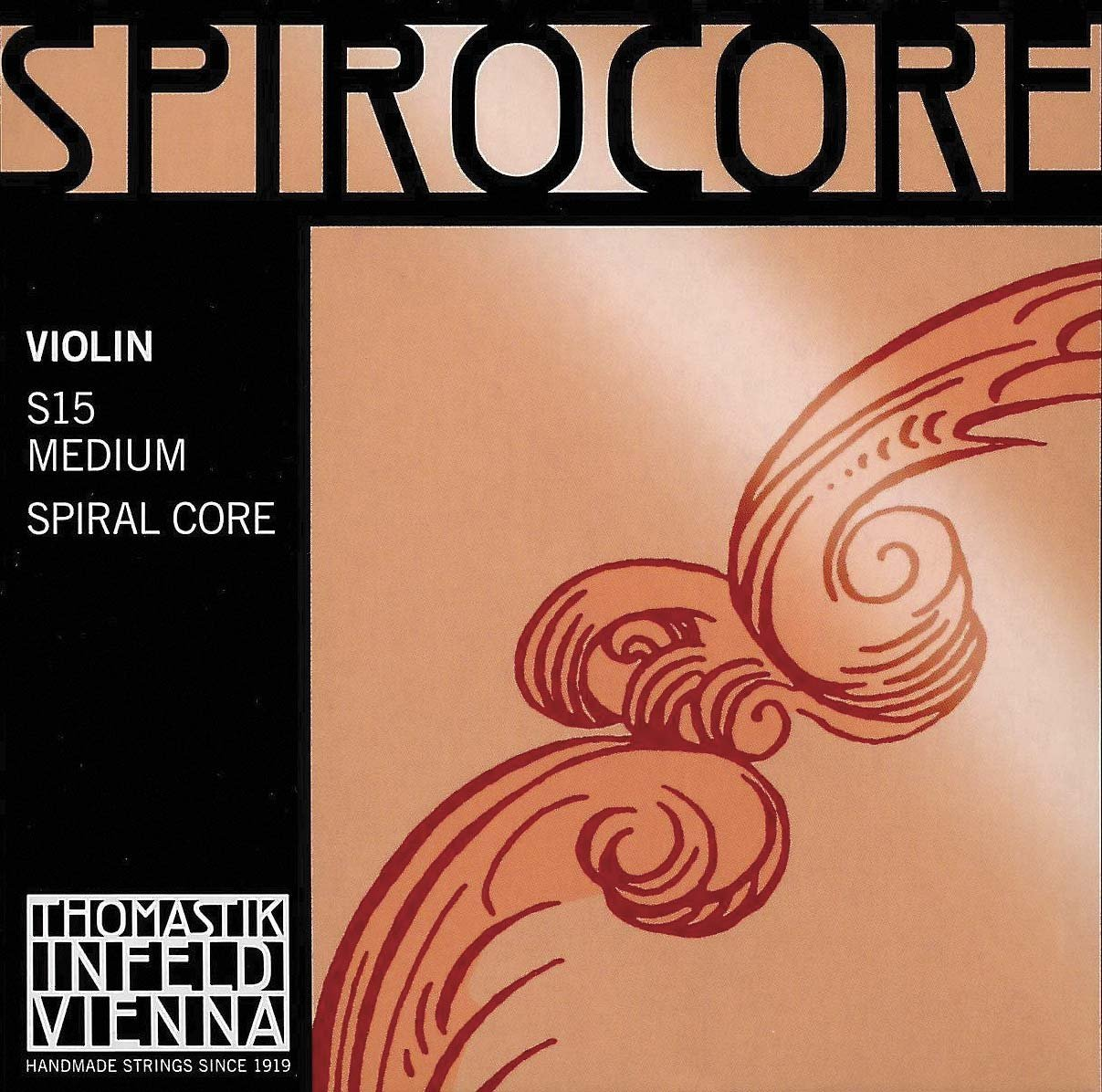 Thomastik Infeld Spirocore 4/4 Violin String Set - Medium Gauge with Ball End E