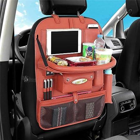 Viaje m/ás tiempo en silencio feliz con nuestro organizador de coche multiusos y organizador de coche con 7 bolsillos XL BTR Organizador de asiento trasero de coche para ni/ños