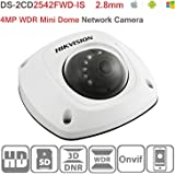 Hikvision IP Camera 4MP Mini Dome Network POE Camera DS-2CD2542FWD-IS 2.8mm WDR IR Day/Night HD 1080P IP67 ONVIF H.264 English Version Support Upgrade
