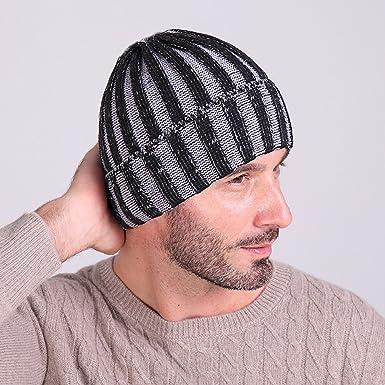 153fb6e9614 Amazon.com  Kangnice® Mens Women Ladies Unisex Knitted Winter Warm  Oversized Slouch Beanie Hats Skateboard Cap (Black)  Clothing