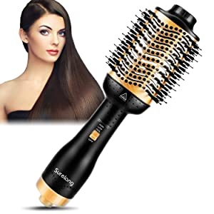 Hair Dryer Brush, One-Step Hair Dryer & Volumizer, Hot Air Brush,Upgrade-Professional 5 in 1 Ion Hair Straightening Blow Styler and Dryer Portable Air Hot Brush for All Hair Type