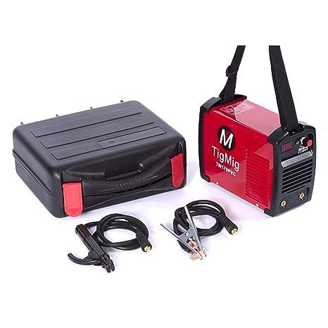 Soldador por arco con electrodo Inverter TM 170 PVC MMA 160 A - Maleta robusta en