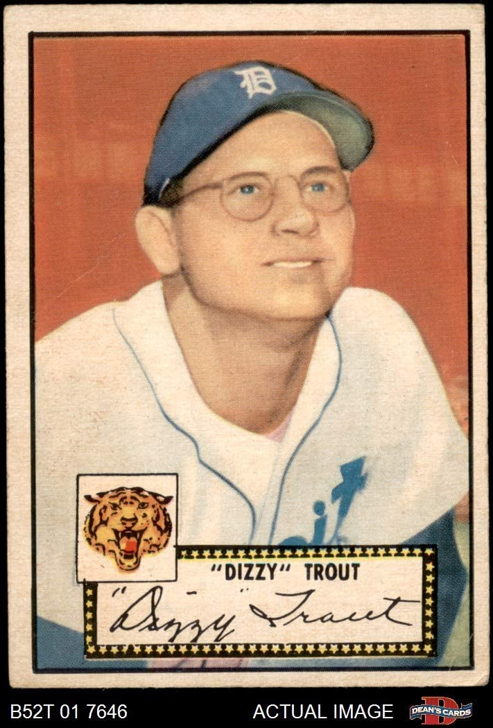 1952 Topps # 39 Dizzy Trout Detroit Tigers Deans Cards 2 Baseball Card GOOD Tigers