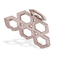 IPINK Women's Vintage Metal Claw Hair Clip Antique Silver,Champagne